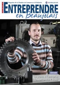 """Couverture du magazine """"entreprendre en Beaujolais"""" de la CCI extrait de http://www.beaujolais-cci.com/s-informer/magazine-de-la-cci"""